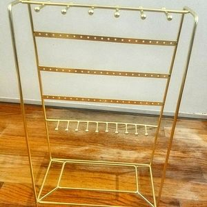 Gold Jewelry Tower Display and Organizer